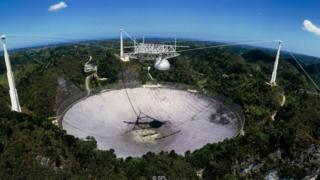 Signals detected by the giant Arecibo radio telescope in Puerto Rico have helped scientists hone in on the source of a fast radio burst