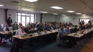 Full council meeting at Taunton Rugby Club