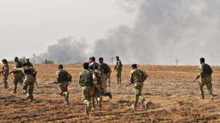 Suriye sınırını geçen Milli Ordu mensupları