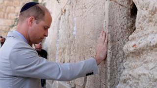 The Duke of Cambridge at Jerusalem's Western Wall