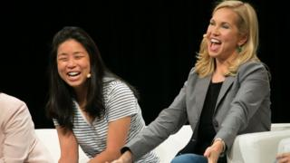 Jessica Livingston (right) of Y Combinator