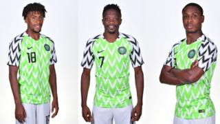Iwobi, Ighalo and Musa dey battle for NFF player of di year award.