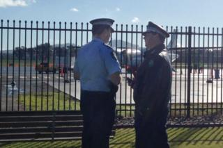 News South Wales Police are investigating the incident at Albury Airport