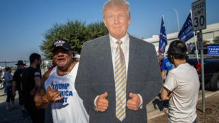In Pictures: Trump supporters hold rallies for the president