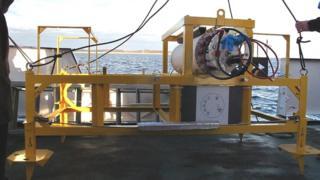 Unidade de energia, parte do equipamento submarino desaparecido