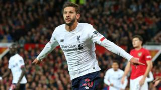 Adam Lallana celebrates