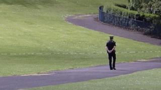 sports Police at the scene