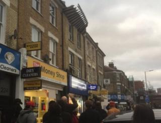Roof collapse on Uxbridge Road