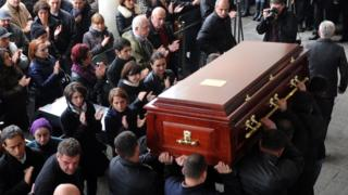 Bendukidze funeral in Tbilisi, 22 Nov 14