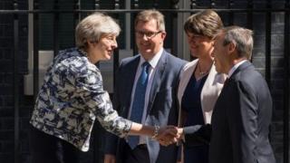 Theresa May ve DUP liderleri