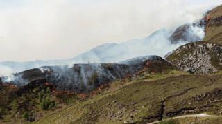 Torridon wildfire