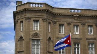 The Cuban embassy in Washington