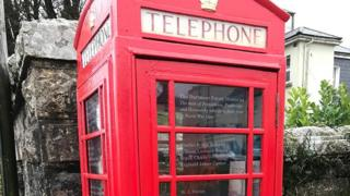 outside of phone box