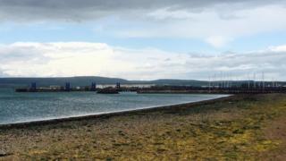 Stranraer ferry port