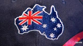 A picture of the hat that forgot the state of Tasmania