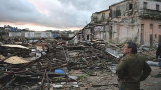 Destrozos en La Habana.