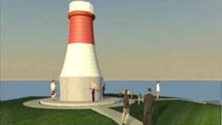 Beamer Rock navigation beacon