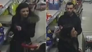 CCTV images in Iceland of man and woman
