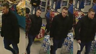 CCTV images of a man West Midlands Police would like to trace
