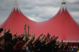 Festival goers at Bloodstock