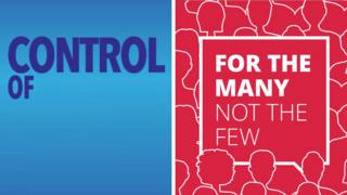 A composite image showing a Conservative political ad on Facebook (left) and a Labour one (right)