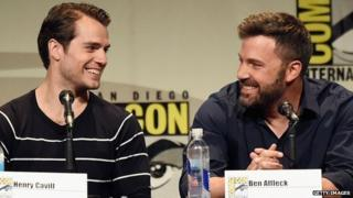 Henry Cavill and Ben Affleck at Comic-Con 2015