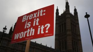 Brexit: Is it worth it? placard