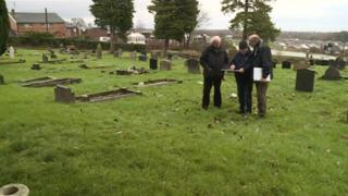 Unmarked grave site at Holy Trinity Church in Gwersyllt