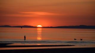 Troon sunset