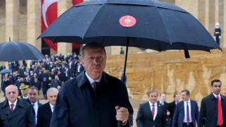 Erdoğan'ın Anıtkabir ziyareti.