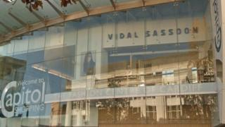 Vidal Sassoon shop at the Capitol shopping centre in Cardiff