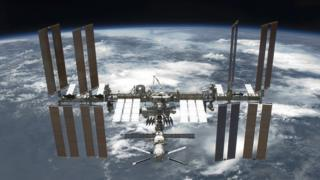The International Space Station in circuit around a earth