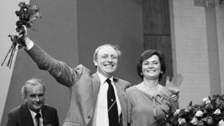 Neil Kinnock and his wife Glenys in 1983