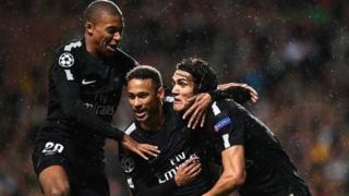 Le trio d'attaque du PSG