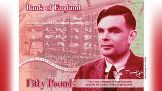 Alan Turing on a £50 note