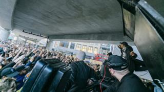 Skepta performing in Shoreditch