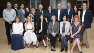 The Downton cast at the launch for the final series in 2015