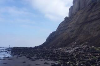 Rockfall on Isle of Wight