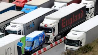 lorries queue