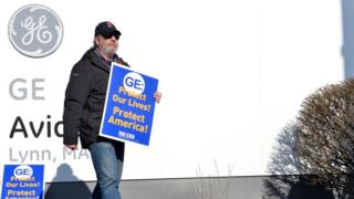 GE Aviation worker protest