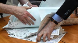 Бюллетени на избирательных участках