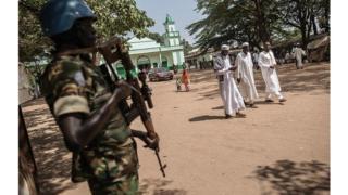 Un Casque bleu de l'ONU en Centrafrique
