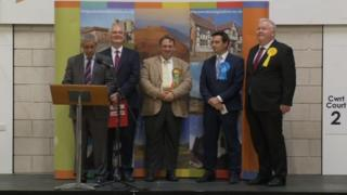 The results are announced in Vale of Clwyd
