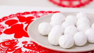 Rice balls called tang yuan.