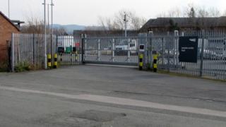 The Network Rail depot in Llandudno Junction
