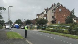Police scene in Bradford