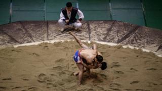Korean wrestlers