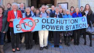 Old Hutton Residents Gather Outside Kendal Town Hall