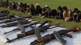 IS militants and weapons captured in Nangarhar province - November 2019