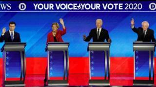 Debate entre os pré-candidatos democratas em New Hampshire